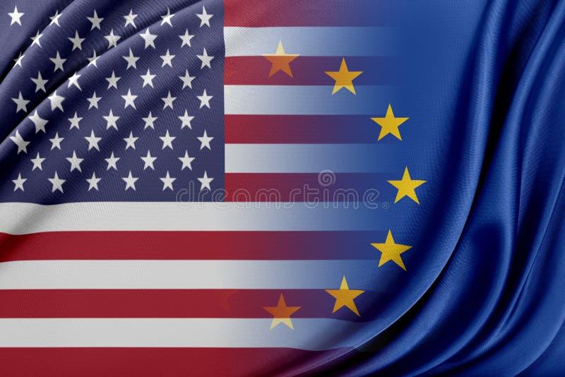 USA och Europa stock illustrationer