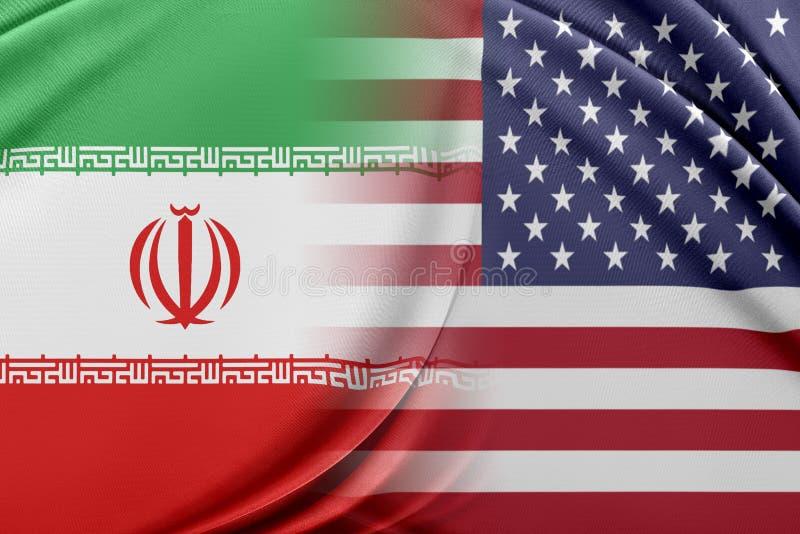 USA och Iran vektor illustrationer