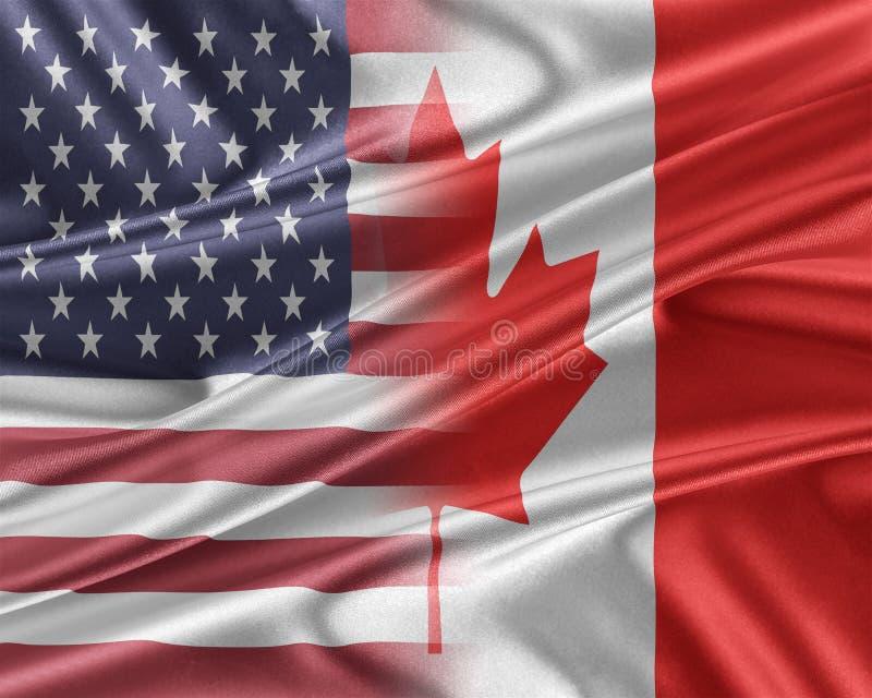 USA och Kanada royaltyfri illustrationer