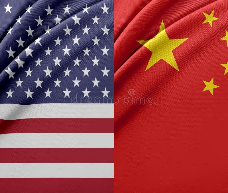 USA och Kina royaltyfri illustrationer