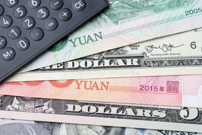 USA och Kina finansierar valutautbyte, handelkrig, importen och före detta fotografering för bildbyråer