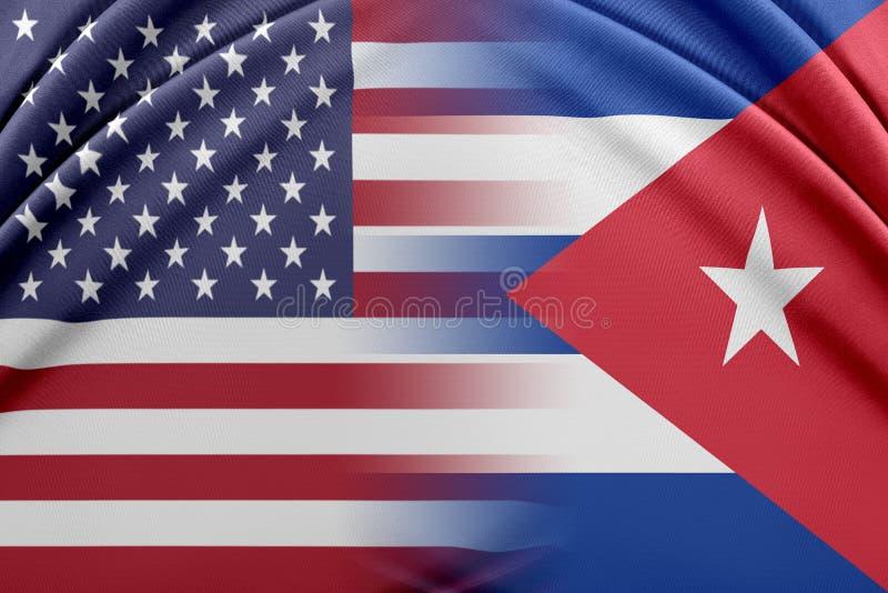 USA och Kuba royaltyfri illustrationer