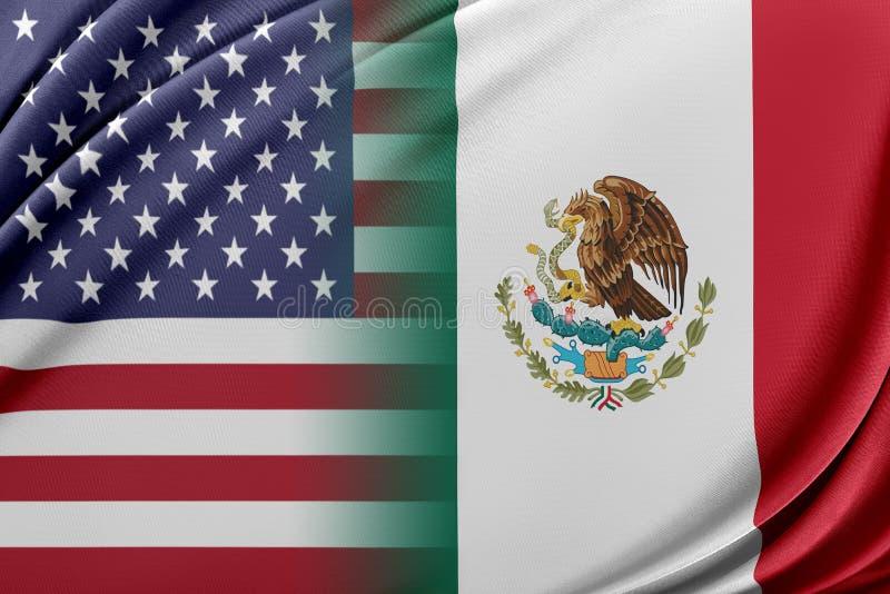 USA och Mexico royaltyfri illustrationer