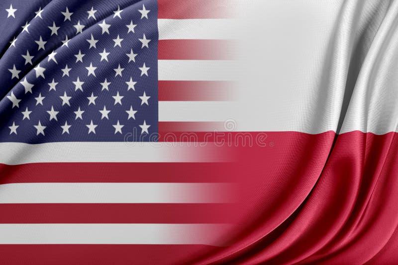 USA och Polen royaltyfri illustrationer