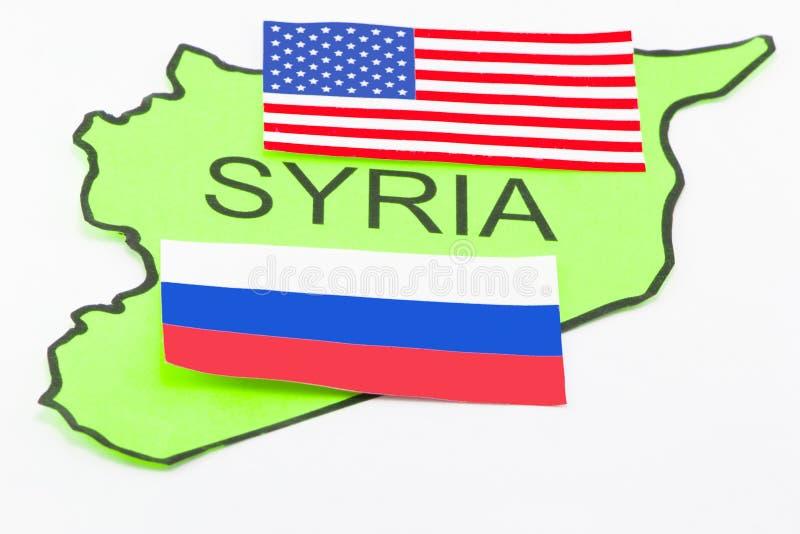 USA och ryskt krig arkivbild