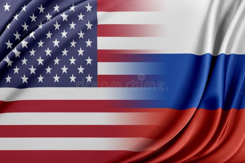 USA och Ryssland royaltyfri illustrationer