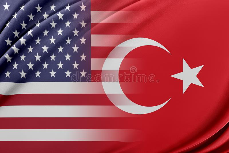 USA och Turkiet royaltyfri illustrationer