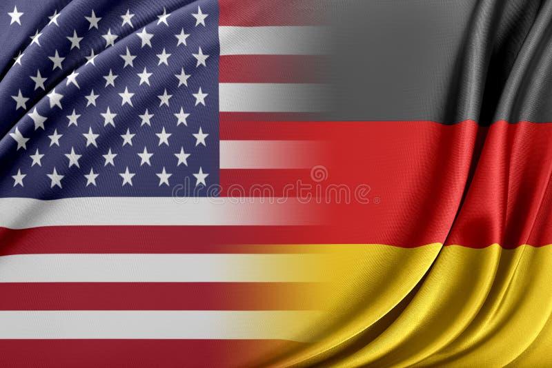 USA och Tyskland vektor illustrationer