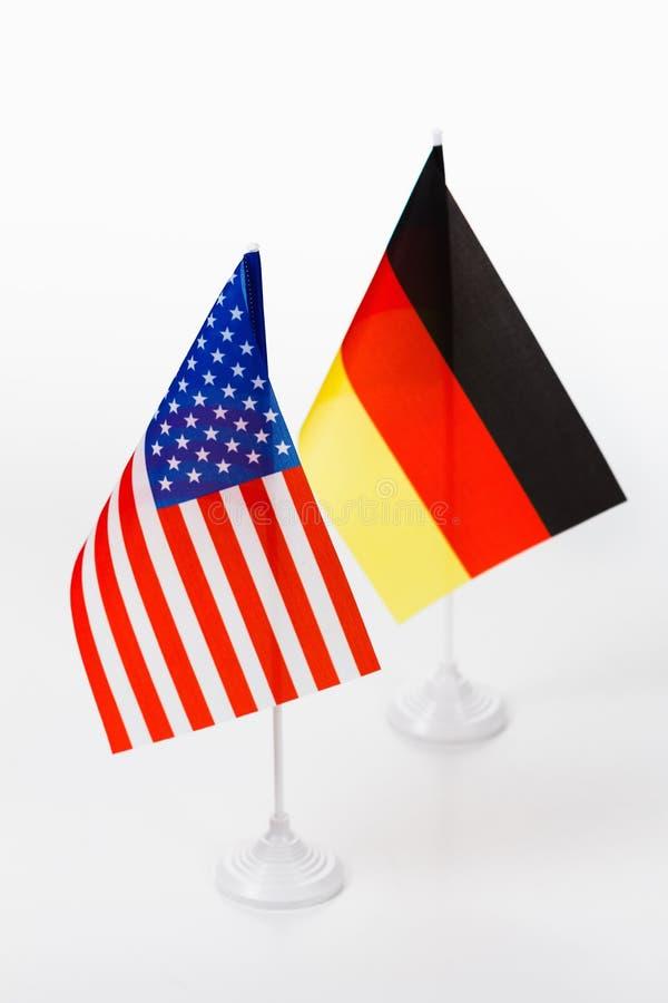 USA och Tysklandflagga royaltyfria foton