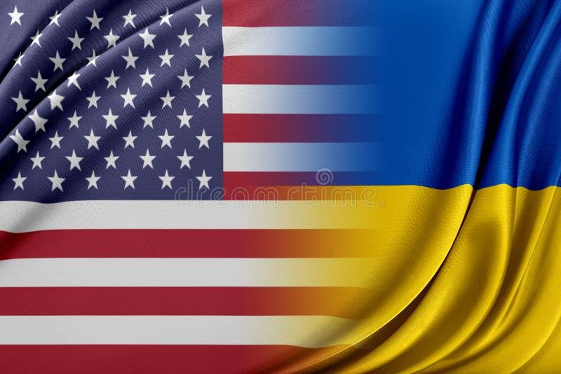 USA och Ukraina vektor illustrationer