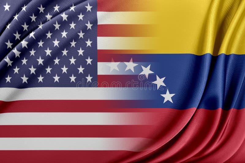 USA och Venezuela stock illustrationer