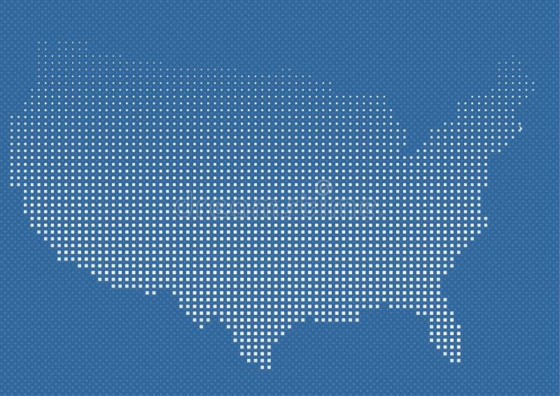 USA oder wir amerikanische Karte im Halbtonbild vektor abbildung