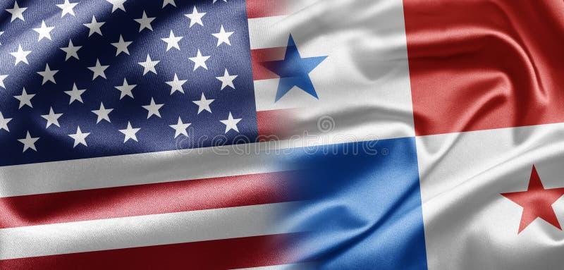 USA and Panama stock illustration