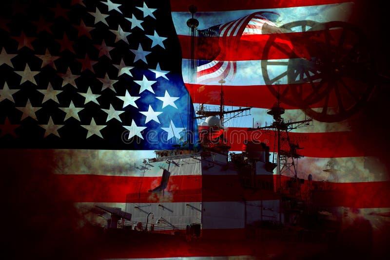 USA Patriot Flag and War stock photos