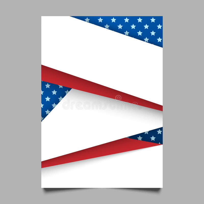 USA patriotic background. Vector illustration with text, stripes and stars for posters in colors of american flag. USA patriotic background. Vector illustration vector illustration