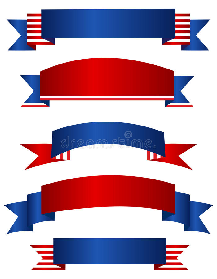 USA patriotic banner / banners royalty free illustration