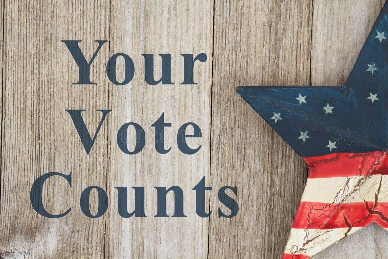 USA patriotiskt röstningmeddelande royaltyfri illustrationer