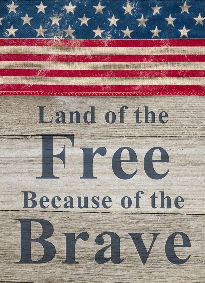 USA patriotyczna wiadomość zdjęcia stock