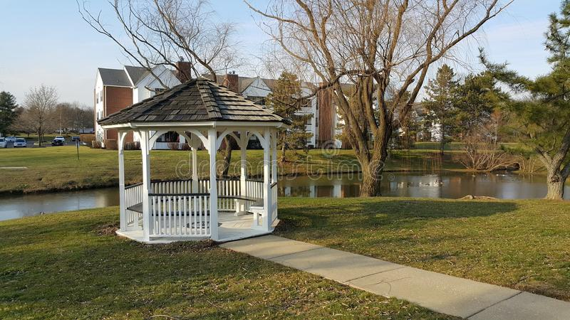 USA Pennsylvania Morrisville alcove lake. USA Pennsylvania Morrisville alcove stock photo