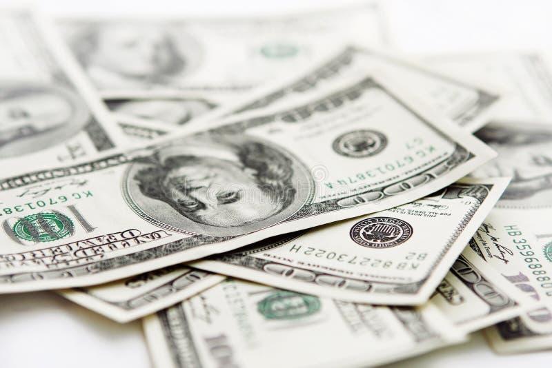 USA pieniądze udziały sto dolarowych banknotów obrazy royalty free