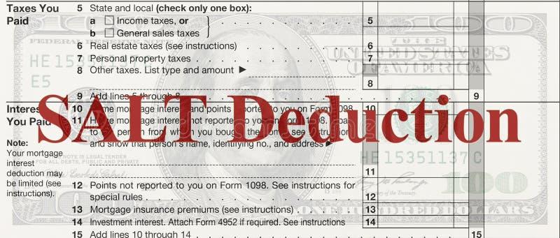 USA podatku federalnego rozkład A dla 1040 podatek dochodowy formy z tekstem S royalty ilustracja