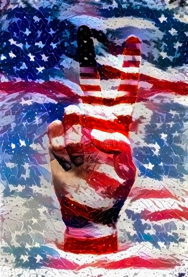 USA pokoju znak royalty ilustracja