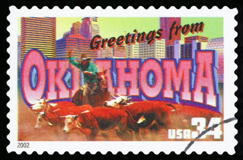USA-portostämpel arkivfoto