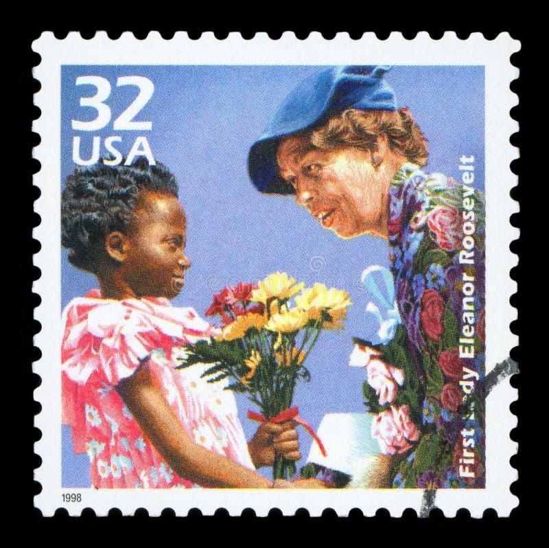 USA-portostämpel royaltyfri fotografi