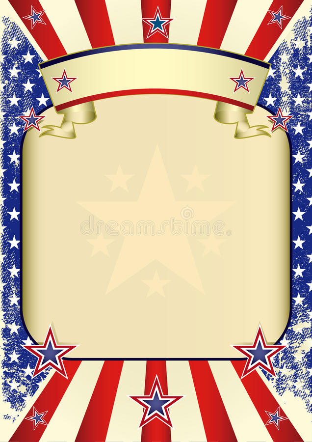 Download USA poster grunge stock vector. Illustration of american - 23725940