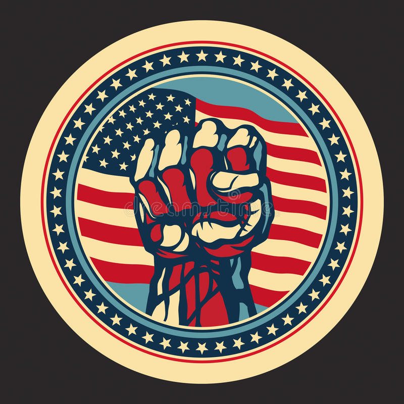Download USA Power. stock vector. Image of fight, hand, protest - 26265945