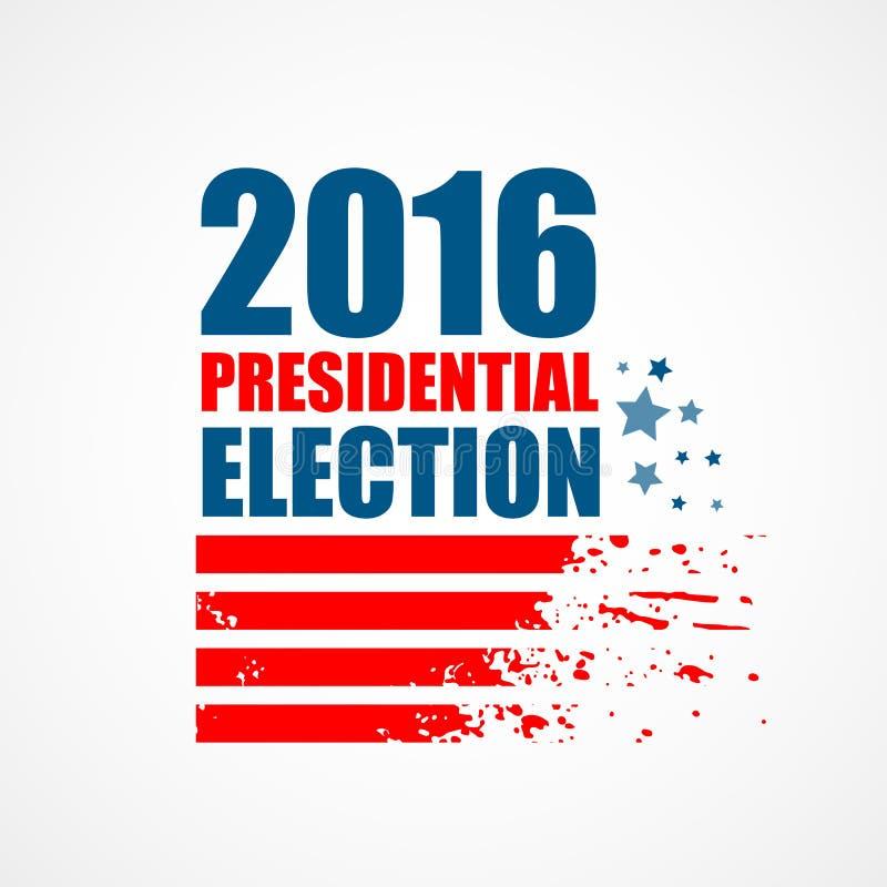 2016 USA-Präsidentschaftswahlplakat Auch im corel abgehobenen Betrag stock abbildung