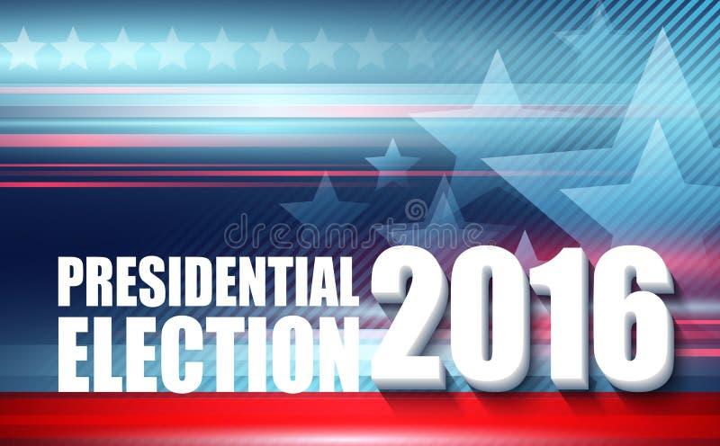 2016 USA-Präsidentschaftswahlplakat Auch im corel abgehobenen Betrag lizenzfreie abbildung