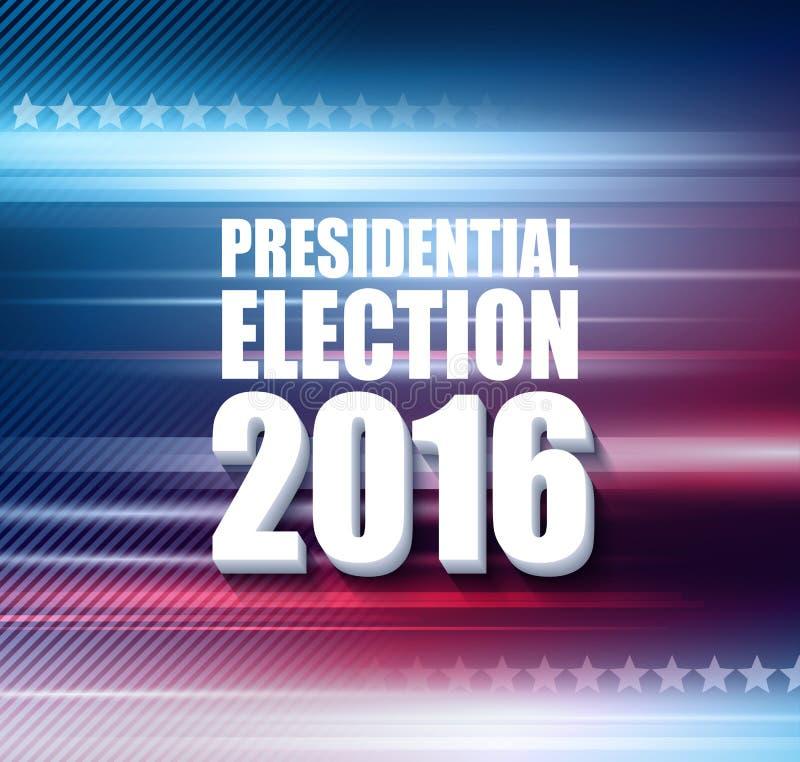2016 USA-Präsidentschaftswahlplakat Auch im corel abgehobenen Betrag vektor abbildung