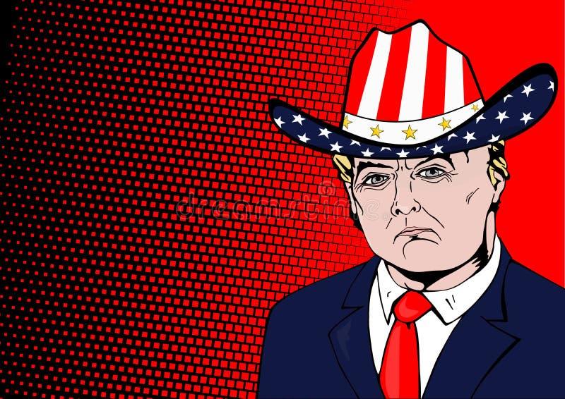 USA-president Donald Trump stock illustrationer