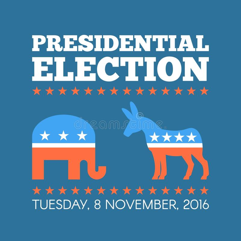 Usa Presidential Election Day Concept Vector Illustration