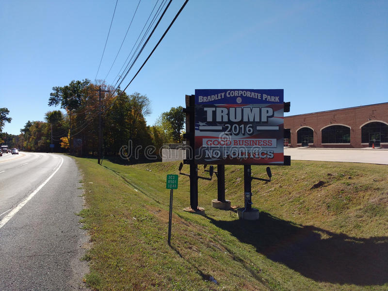 USA Presidential Election, Trump 2016, Good Business, No Politics stock photo