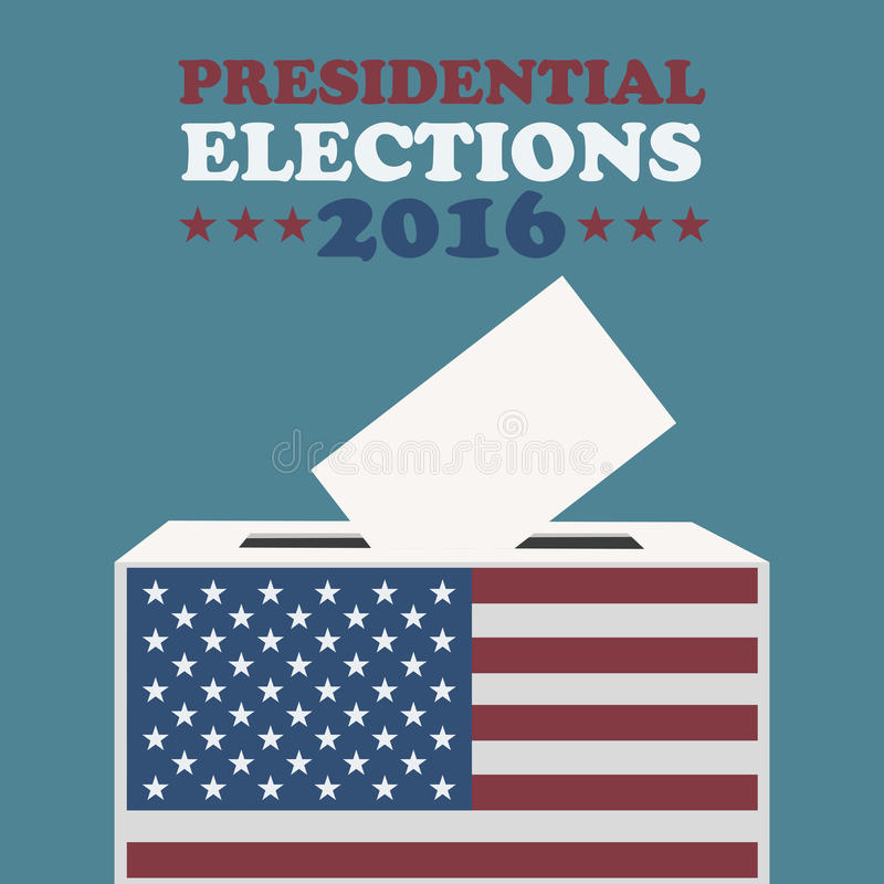 Usa 2016 presidential elections. Abstract background stock illustration