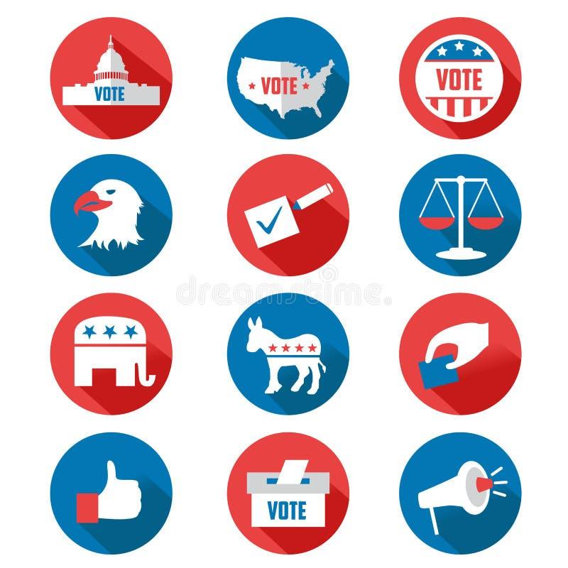 USA presidentvalsymboler royaltyfri illustrationer