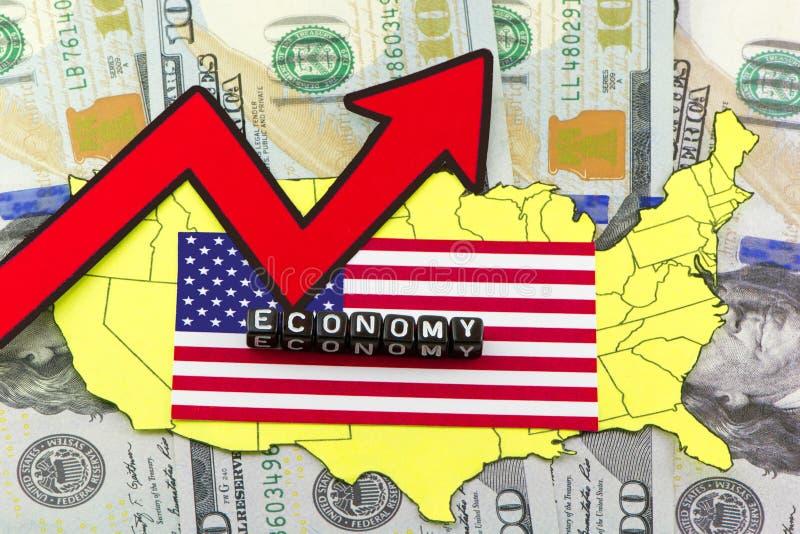 USA problem ekonomiczny ilustracja wektor