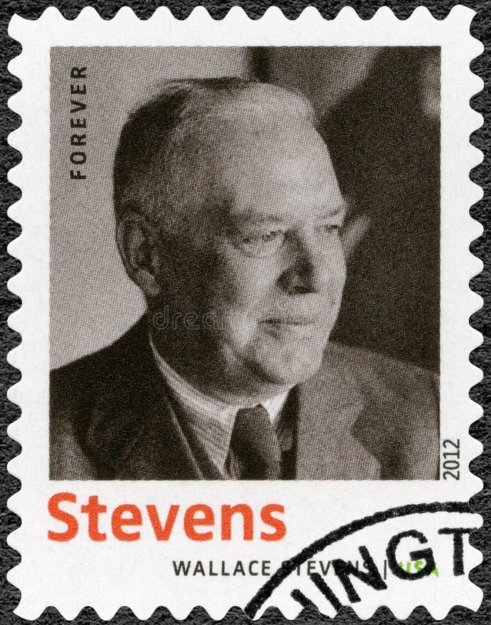 USA - 2012: przedstawienia Wallace Stevens 1879-1955, Amerykańska Modernistyczna poeta, serii laurea nobla w literaturze zdjęcia royalty free
