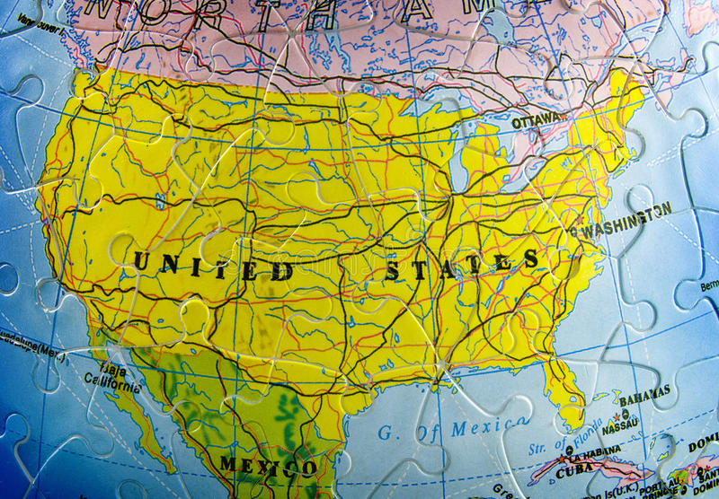 Download USA on puzzle stock photo. Image of united, plan, green - 10624292