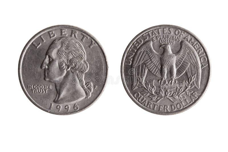 USA quarter dollar coin stock photo