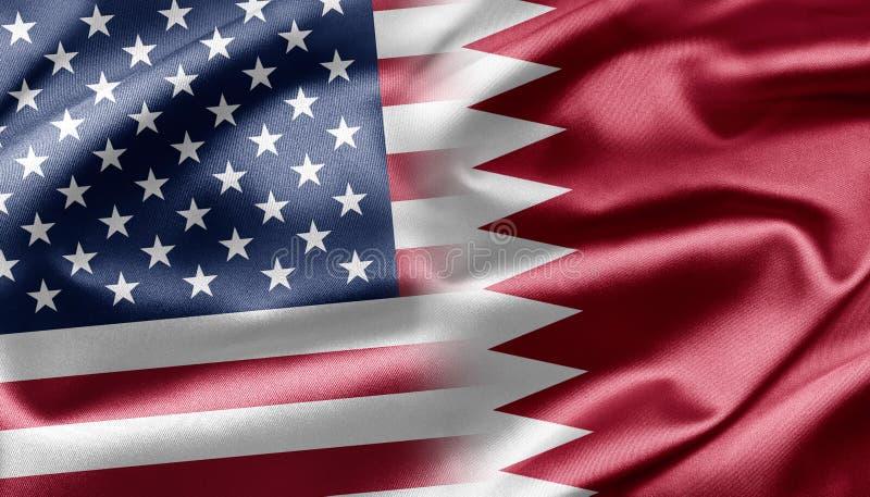 Download USA and Quatar stock illustration. Image of flag, quatar - 28585107