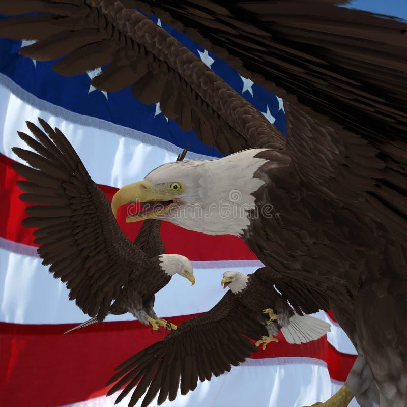 USA röstar stock illustrationer