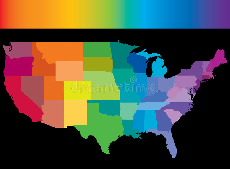 Usa rainbow vector illustration