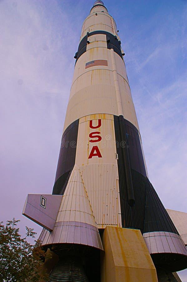 USA raket Saturn-v royaltyfria bilder