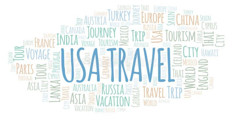USA-Reisewortwolke stock abbildung