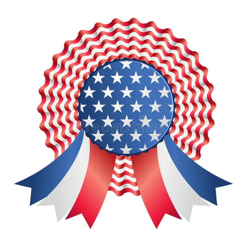 Download Usa ribbon or badge stock vector. Illustration of background - 24907726