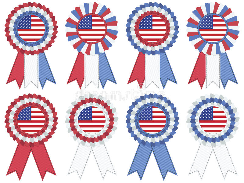 Usa Rosettes Stock Images