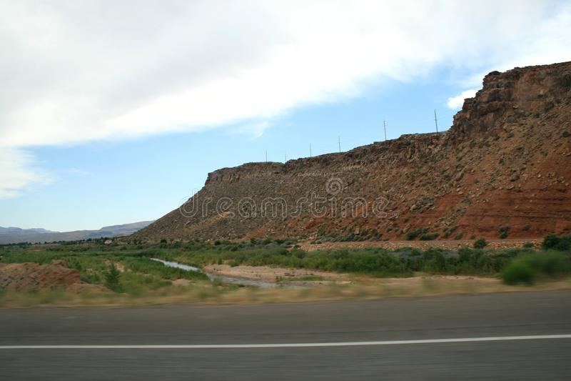 USA Rote Berge Utah stockbild